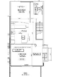 Reverse of the floor plan shown, The Main living area is located on the THIRD (top) floor of the chalet.
