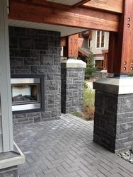 Outdoor fireplace: enjoy the outdoor living experience while sitting in the hot tub and watching the fire!