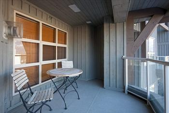 One of 2 private balconies with BBQ.
