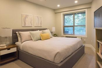 King size bedroom with 2 large closets.