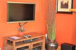 Flat Screen TVs in each room and Entertainment Center with Blu-ray, MP3, & Video in Living room