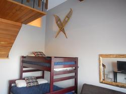 After a full day of skiing the kids will enjoy a good nights sleep in a New Bunk bed which sleeps 3 comfortably.