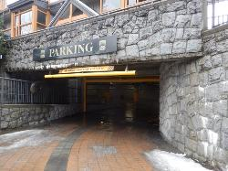 Entrance to the underground parking