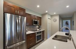 Stainless appliances in the kitchen