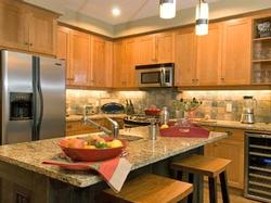 Gourmet kitchen with everything you need for your home at the mountain.
