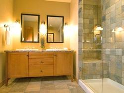 luxury steam shower and heated bathroom floors off the master bedroom
