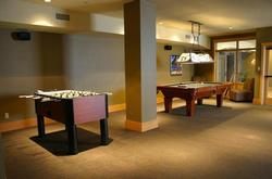 entertainment centre with pool table, theatre, exercise gym and indoor ski/board locker room