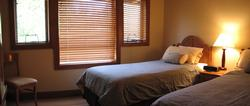 Guest Bedroom 2 - with private access to bathroom.