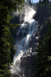 Shannon Falls is South of Squamish. When driving to Whistler, take a short break to visit this beautiful waterfall. It is a short hike up (15 minutes) but you will not regret this spectacular site!