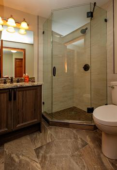 Second bathroom. Leave your hair dryer at home we have one in both baths!