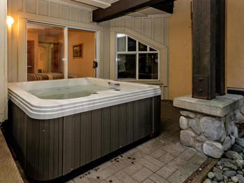 Private hot tub outside of second bedroom!