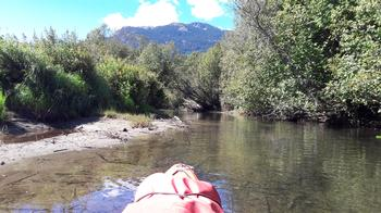 Summer days kayaking down the river of Golden dreams close to whistler village are always fun days