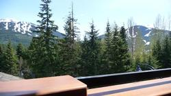 View of Whislter and Blackcomb mountains from the master bedroom