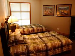 Second bedroom with twin beds that can be put together to make a double