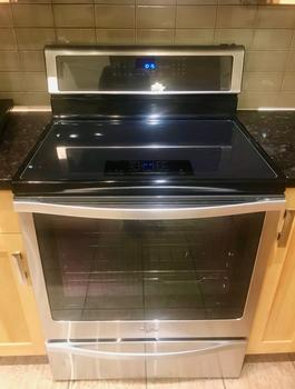 New induction stove with convection oven
