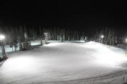 View of Hummingbird run at night from 12 Legend.