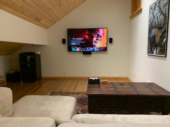 Media room with 55 inch HD TV, Apple TV, Netflix, SonyPlaystation