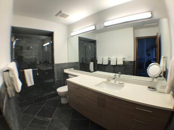 Newly renovated upstairs bathroom