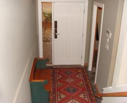 Front entry with heated floors