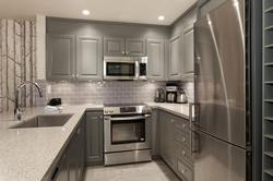 Renovated kitchen with all you need to prepare and serve small to large meals.