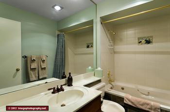 The bathroom, located in the second floor beside the master bedroom.