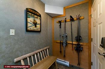 The mudroom. Excellent ski, gear and bike storage area.