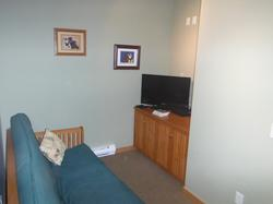 Den with Double Futon, 32 inch LCD TV, DVD and Wii