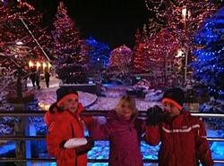 The lights throughout Whistler Village in the winter are simply stunning.