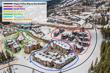 The Timbers is located in the Happy Valley area of Big White Ski Resort, just steps to the skating rink, tube park, and Gondola.