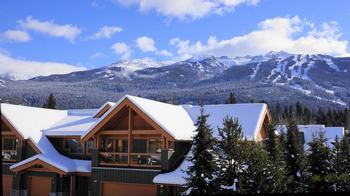 WINTER VIEW OF BLACKCOMB MOUNTAIN FROM OUR BALCONY