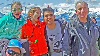 FAMILY RENDEVOUS AT THE RENDEZVOUS PATIO ON BLACKCOMB MOUNTAIN