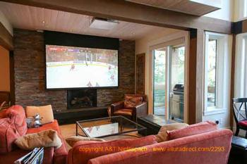 Watch TV on extra large projector in the living room - or on any TV in every bedroom
