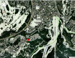 Overview showing location of #42 to Village and Ski Run