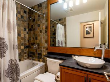 One of 2 full renovated bathrooms -this bathroom is located off the living area