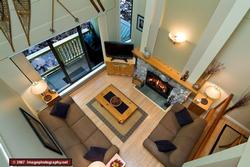 Overhead View of the Living Room