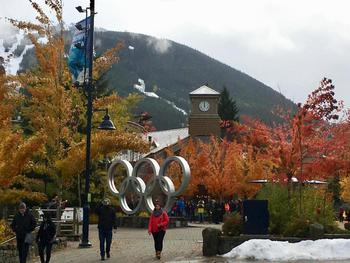 A beautiful autumn day in October. Whistler is a four season resort.
