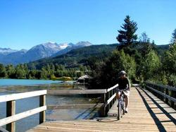 Biking is one of Whistler's most popular summer activities. Enjoy a gentle ride along the Valley trails or go mountain biking!