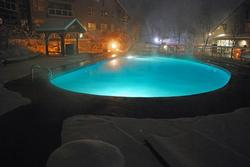 And the pool at night.