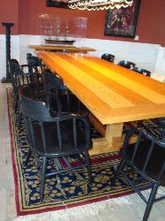 large dining table with seating for 11