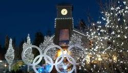Olympic Rings in the village