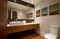 Powder room - located off the kitchen area