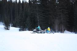 Snowmobiling at Sun Peaks 2014