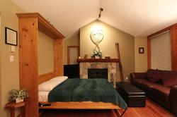 Comfortable Murphy Bed folds down in Living Area - no lumpy hide-a-bed!