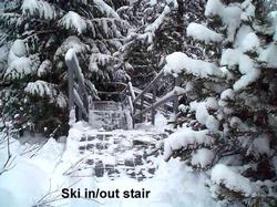 Stair to Ski-out -- there are about 30 stairs that lead down to a path which takes you to the Creekside Gondola.