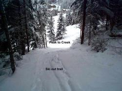 view of ski-out trail