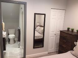 Master bedroom ensuit with heated floors, shower,sink & toilet