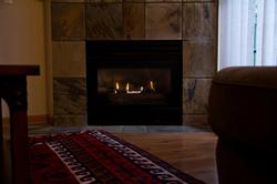 like it more cozy - turn on the fireplace while watching tv in the evening