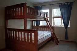brand new bunk bed in the second bedroom, great for a family with kids with a lot of space to play