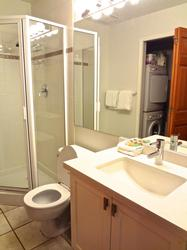 second, full bathroom with stand-up shower on the main floor with in-suite laundry facilities