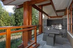 Deck located off living and kitchen area with a BBQ and great views.